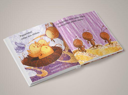 Livro Sobre passarinhos e formiguinhas